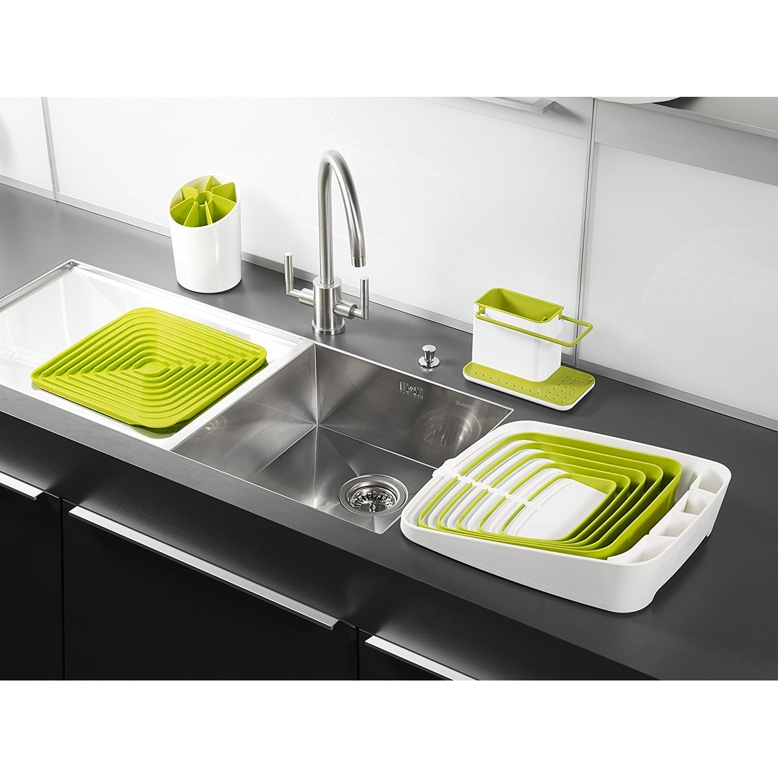 Joseph Sink Caddy Kitchen Organizer Holder Green White On Free Shipping Orders Over 45 17817375