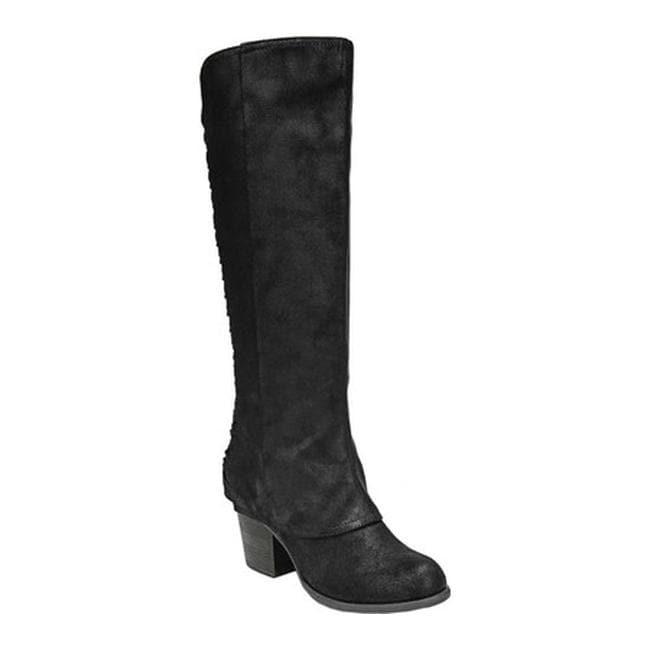 cff28bdf716 Shop Fergalicious Women s Tinley Knee High Wide Calf Black Oiled ...