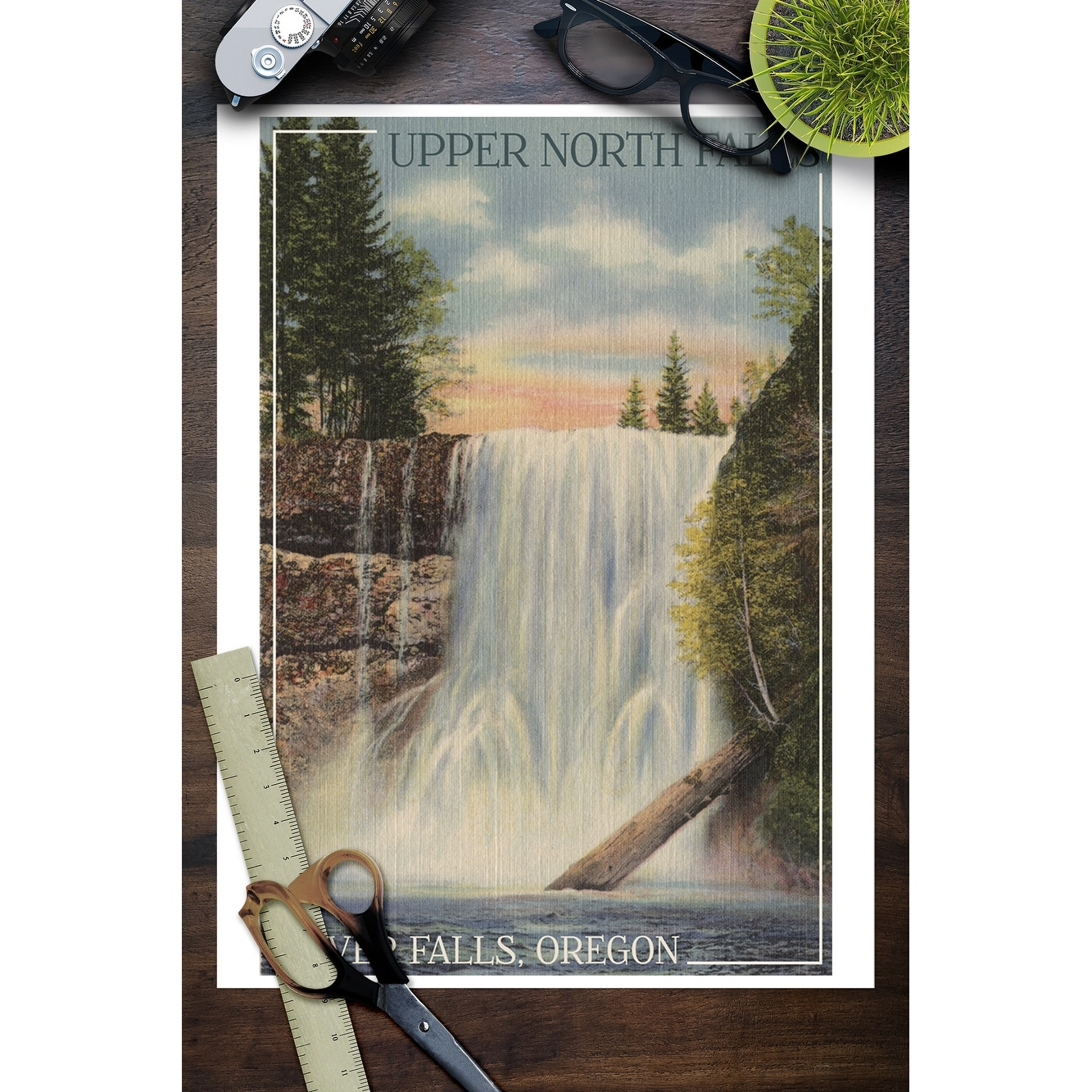 Silver Falls State Park, Oregon - Silver Falls - Vintage Postcard (Art  Print - Multiple Sizes Available) - 9 x 12 Art Print