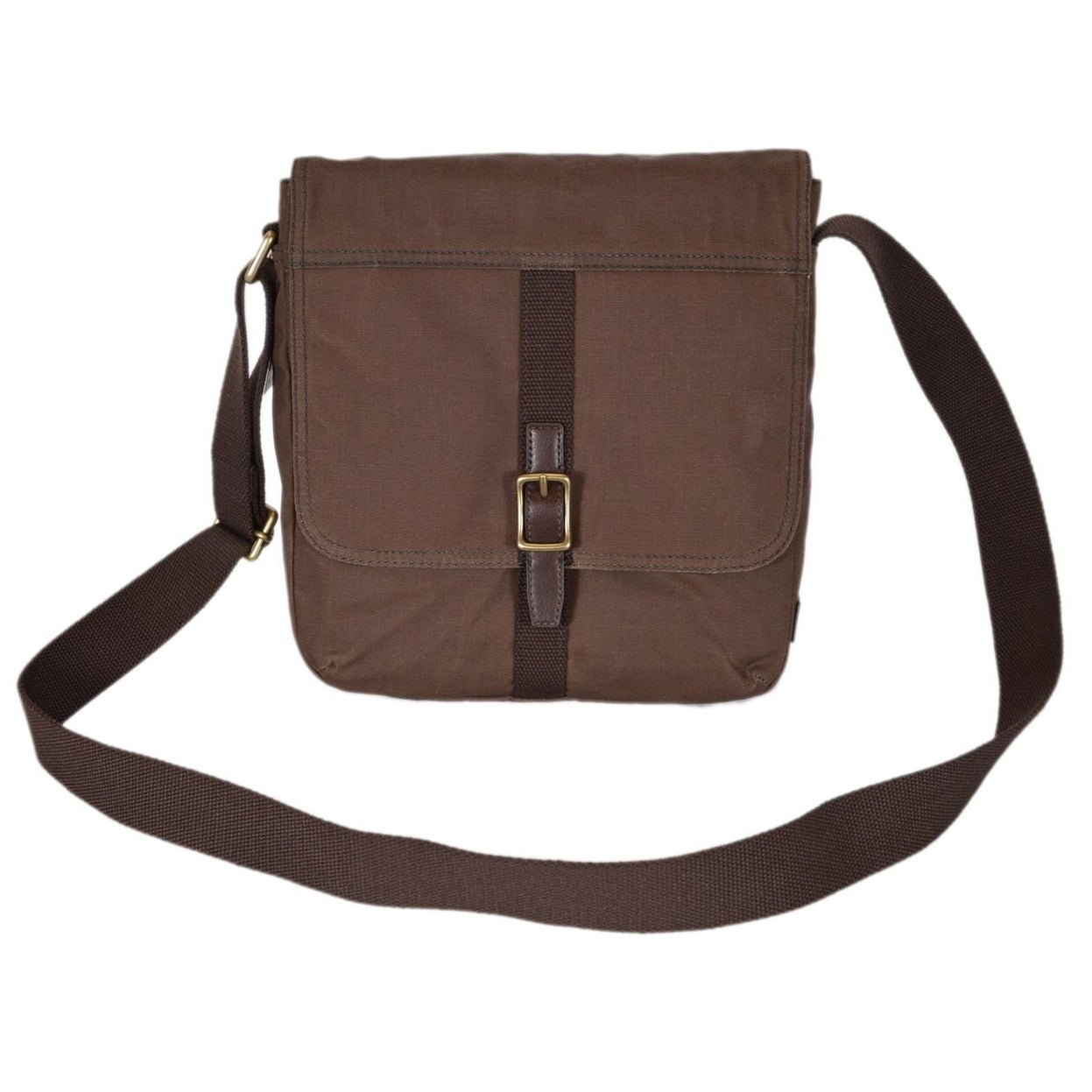 Fossil Men S Olive Waxed Canvas Evan City Messenger Bag On Free Shipping Today 22413232