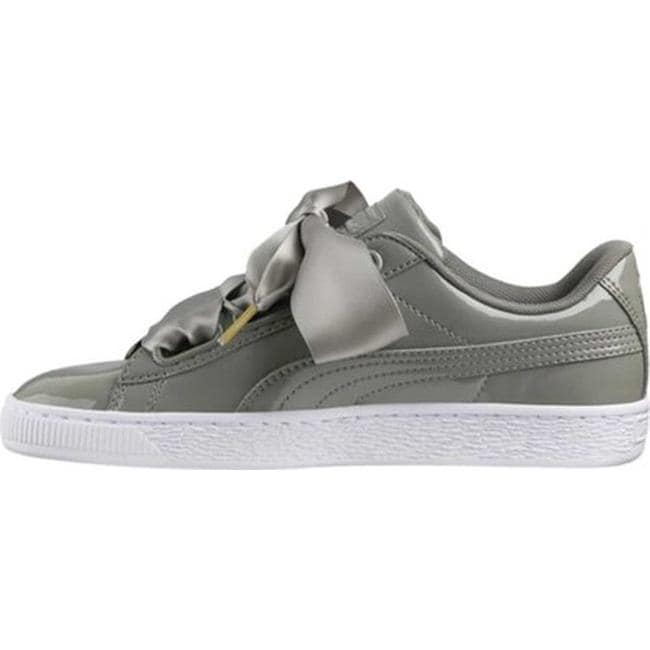 fc2e4cfb6f19b Shop PUMA Women s Basket Heart Patent Sneaker Rock Ridge Rock Ridge - Free  Shipping Today - Overstock - 20545669
