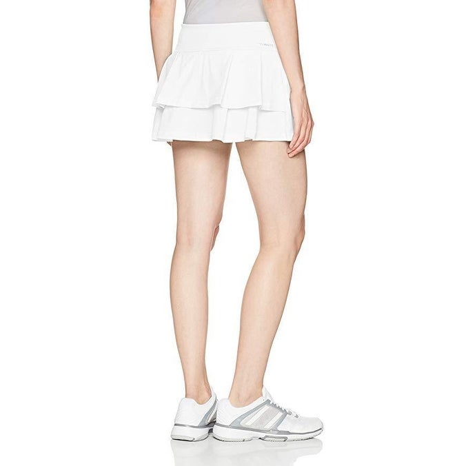 c37eecc5e1 Shop adidas Women's Tennis Advantage Skirt, White/Layered, SZ X-Large -  Free Shipping Today - Overstock - 27068222