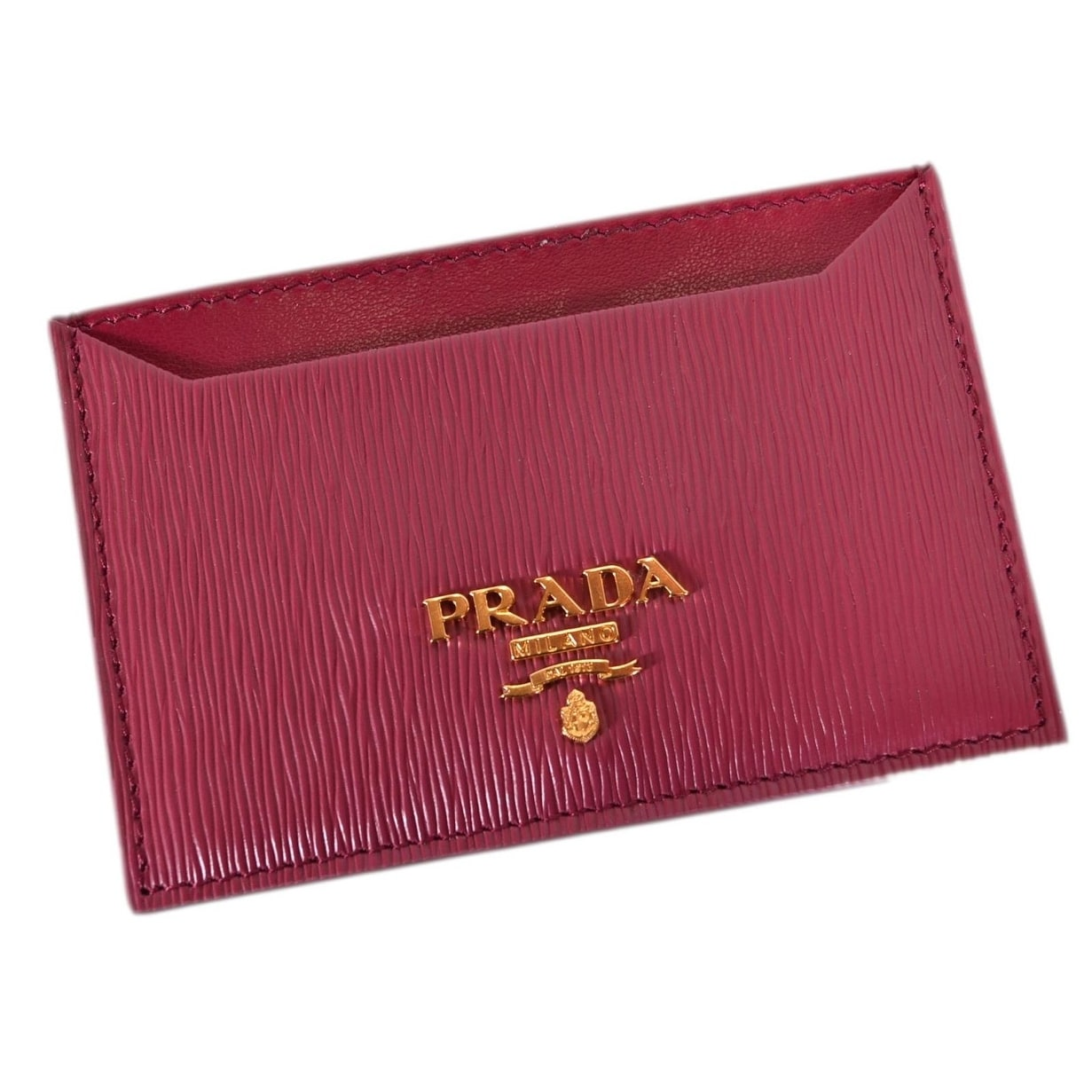 0053a3aa Prada Women's 1MC208 Ibisco Pink Saffiano Leather Metal Card Case ID Wallet  - 4