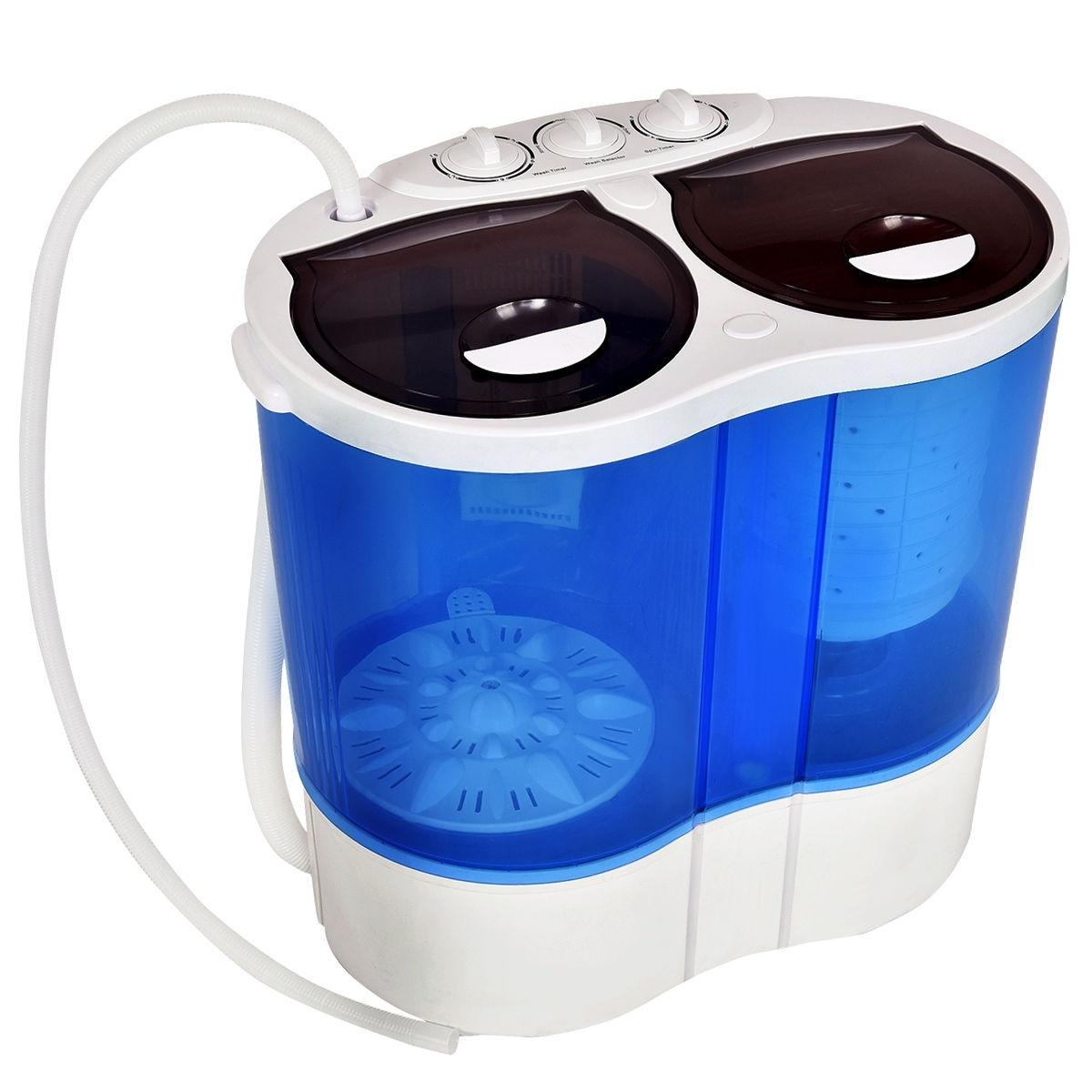 Shop Costway Portable Mini Washing Machine Compact Twin Tub 15lb ...