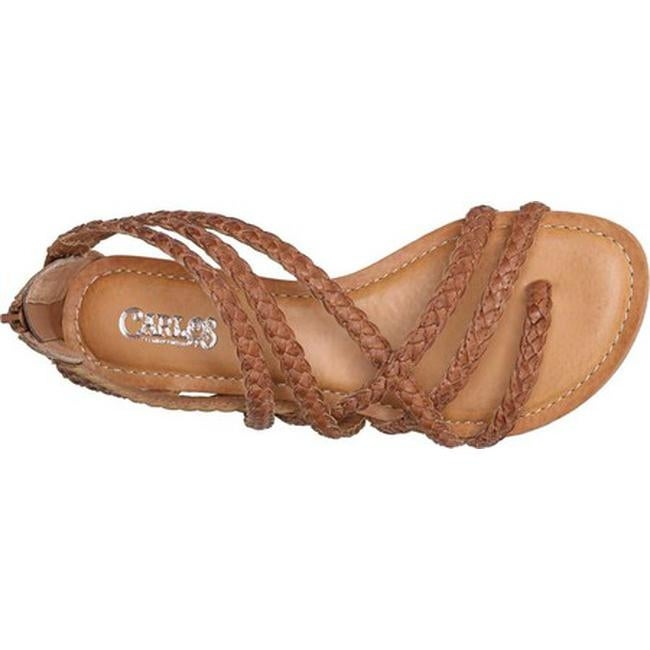 d1e14d21f1db3 Shop Carlos by Carlos Santana Women s Amara 2 Strappy Sandal Tawny Tan  Leather - On Sale - Free Shipping Today - Overstock - 19856500