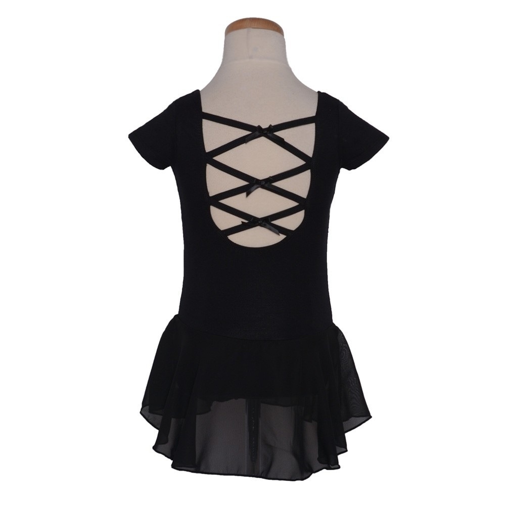 a02788713 Shop Danshuz Black Cap Sleeve Princess Seam Bows Dance Dress Little ...