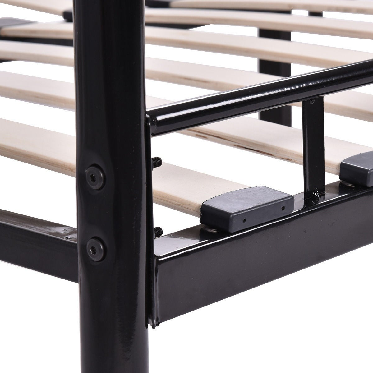 Shop Costway Queen Size Wood Slats Bed Frame Platform Headboard ...