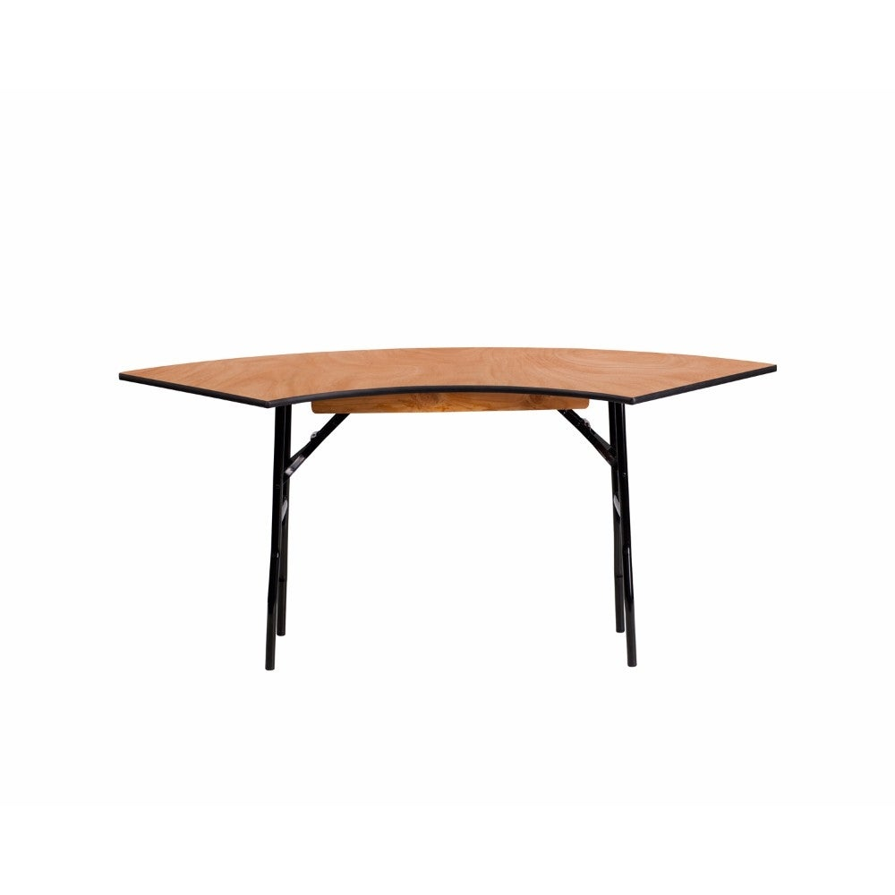 shop offex 5 5 ft x 2 ft serpentine wood folding banquet table of