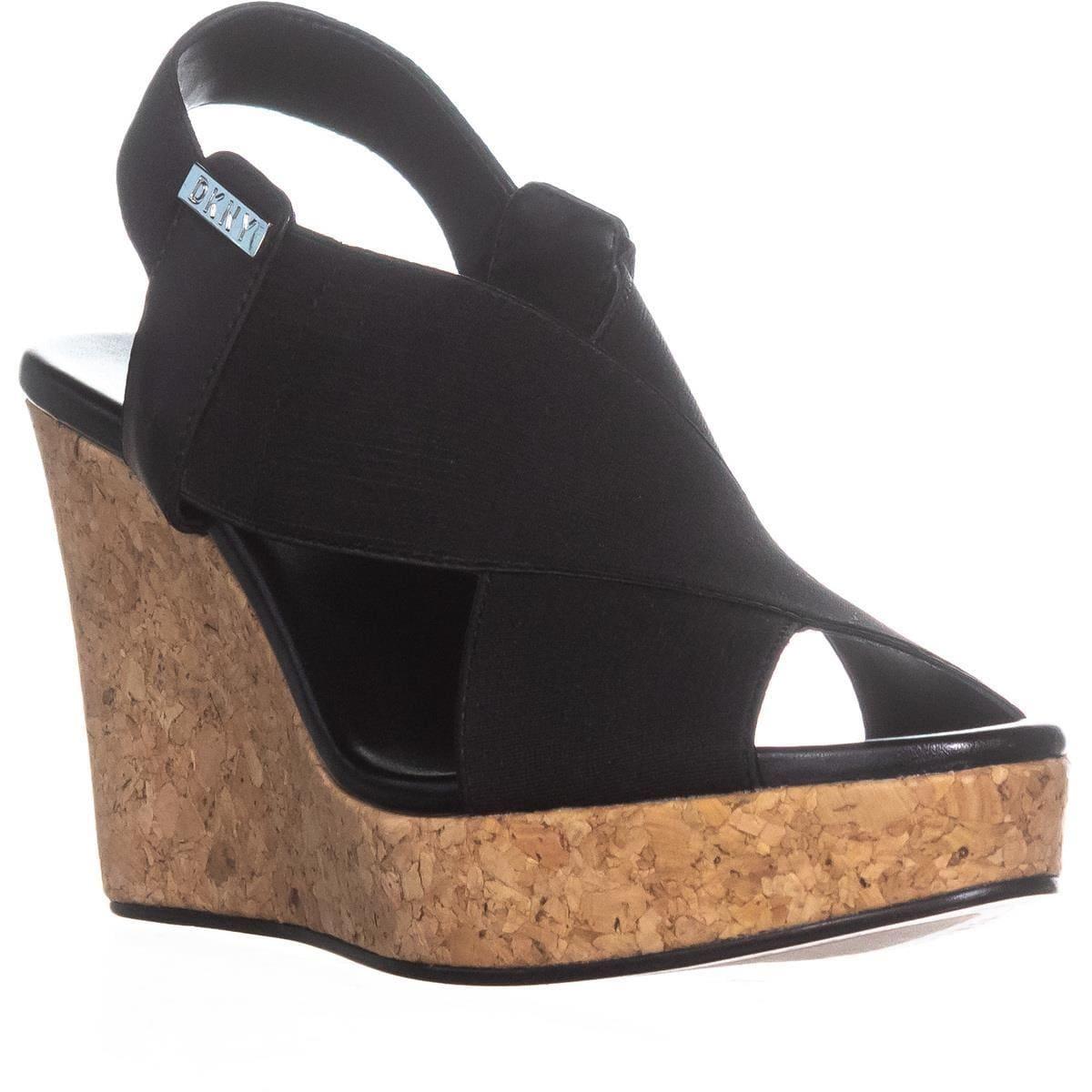 Shop DKNY Jamara Criss Cross Wedge Sandals , Black - 7 us / 37.5 eu - Free  Shipping Today - Overstock.com - 22368780