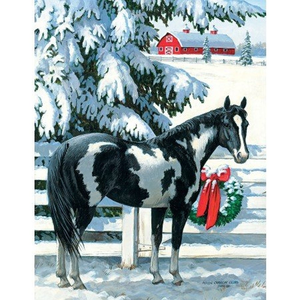 Shop Holiday Stables 5.375 In X 6.875 In Boxed Christmas Ca ...