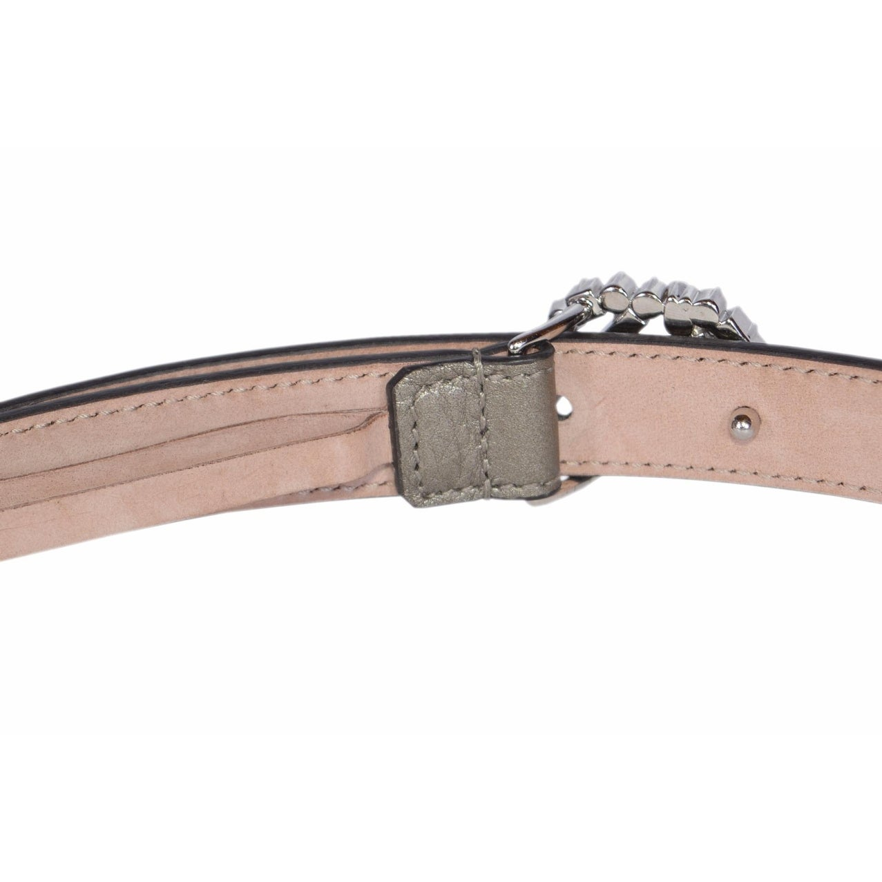 90319aee9 Shop Gucci Women's Metallic Grey Leather Swarovski Crystal GG Buckle Skinny  Belt 38 95 - Free Shipping Today - Overstock - 17613033