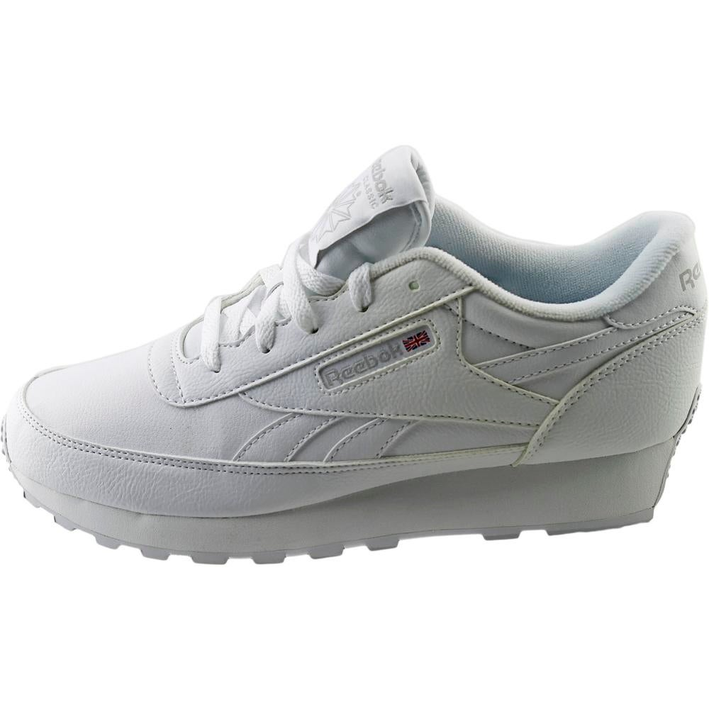 best service c3354 4ec17 Reebok Classic Renaissance Women 4E Round Toe Synthetic White Sneakers
