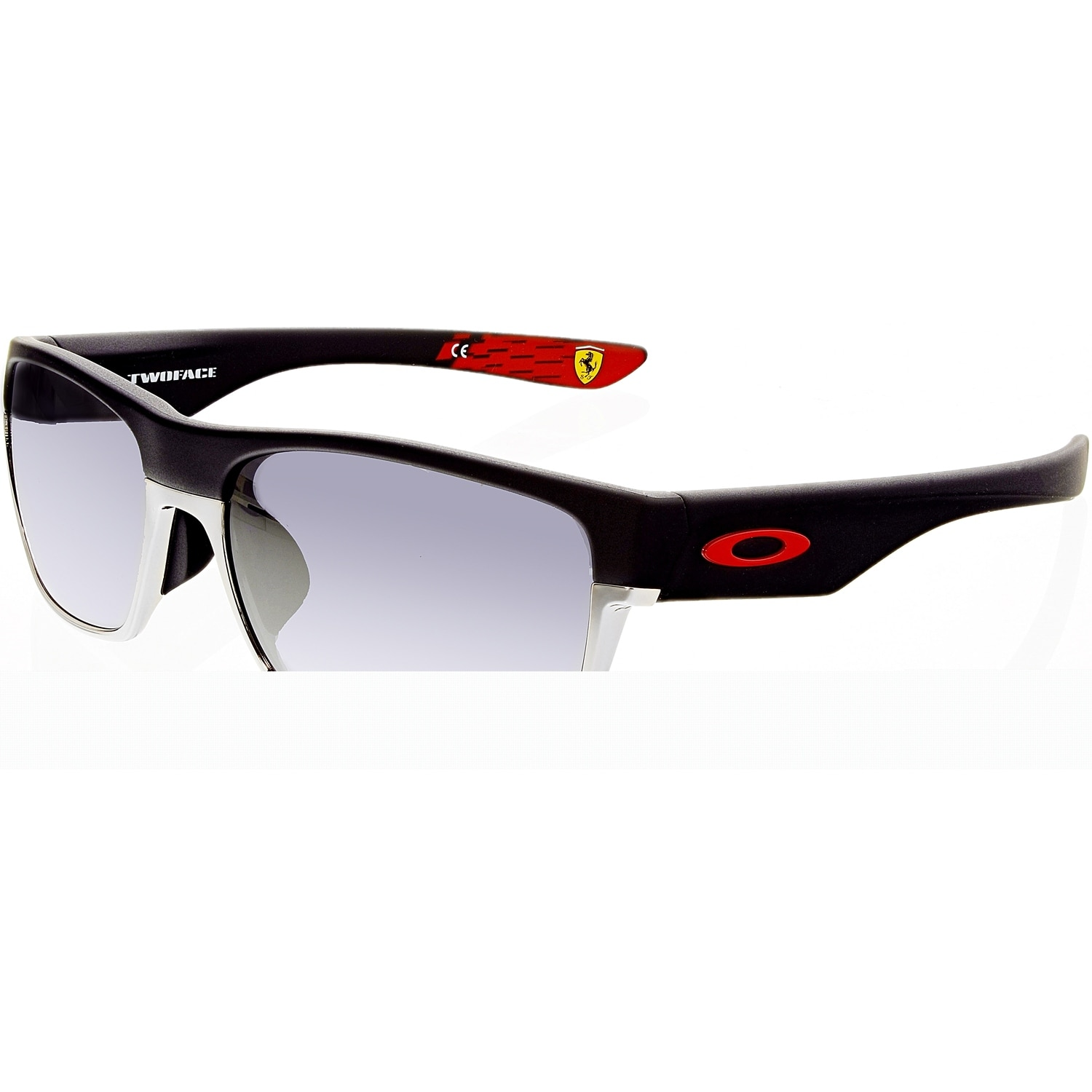cf814613f6 Shop Oakley Men s Two Face OO9256-08 Black Rectangle Sunglasses ...