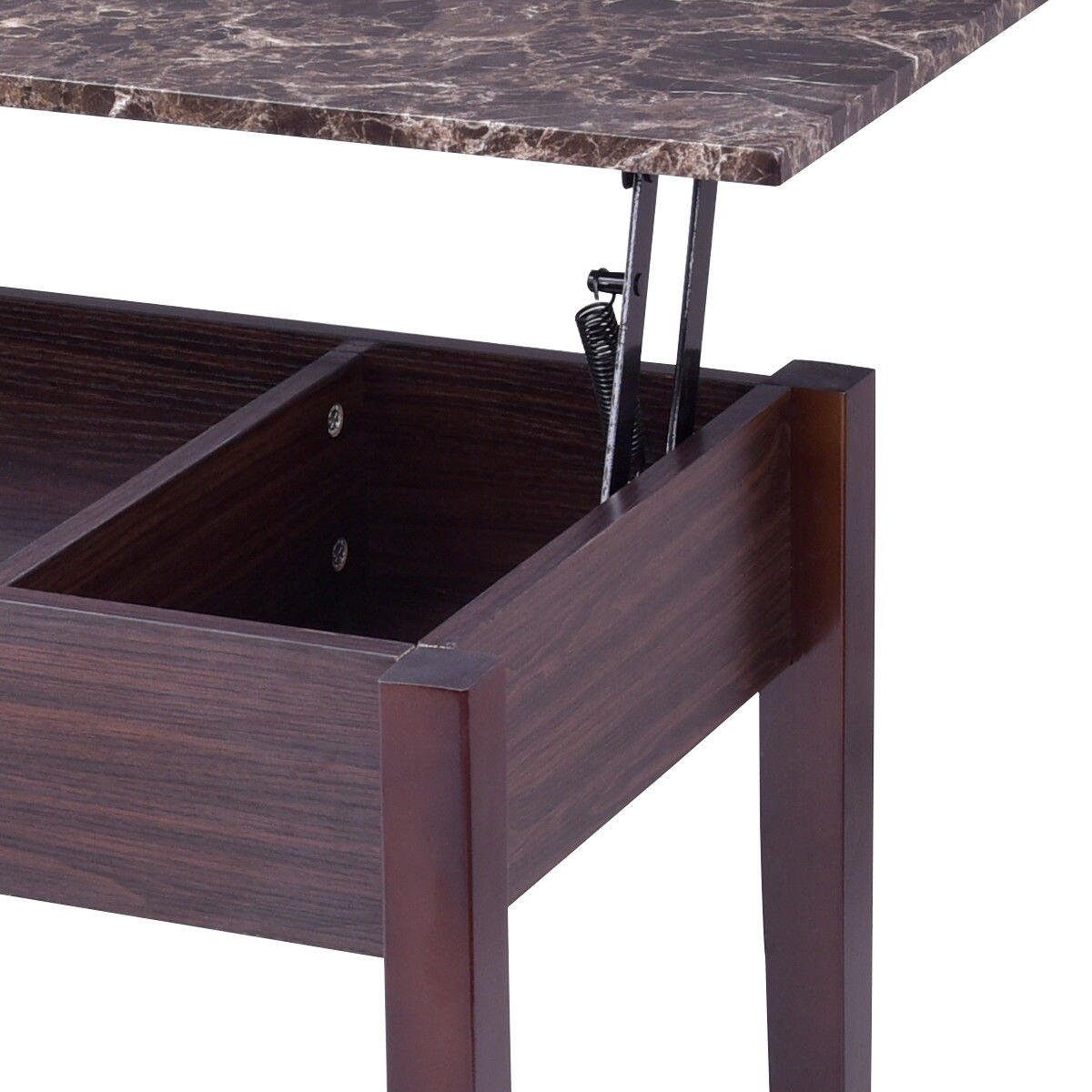 Costway Faux Marble Lift Top Coffee Table W Hidden Storage Compartment Solid Wood Legs As Pic Free Shipping Today 20476007