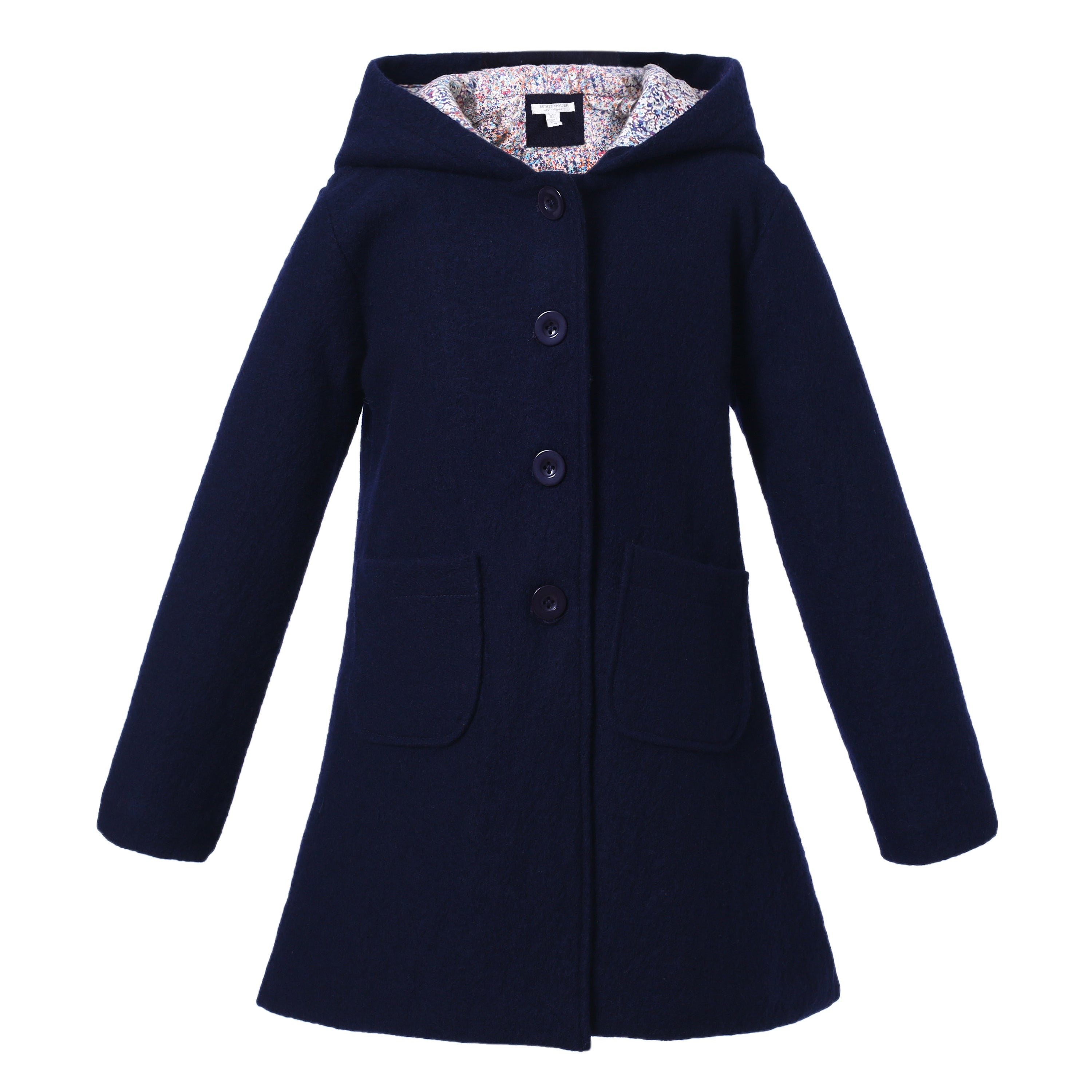 f13d9885643d Richie House Girls  Wool jacket with hood