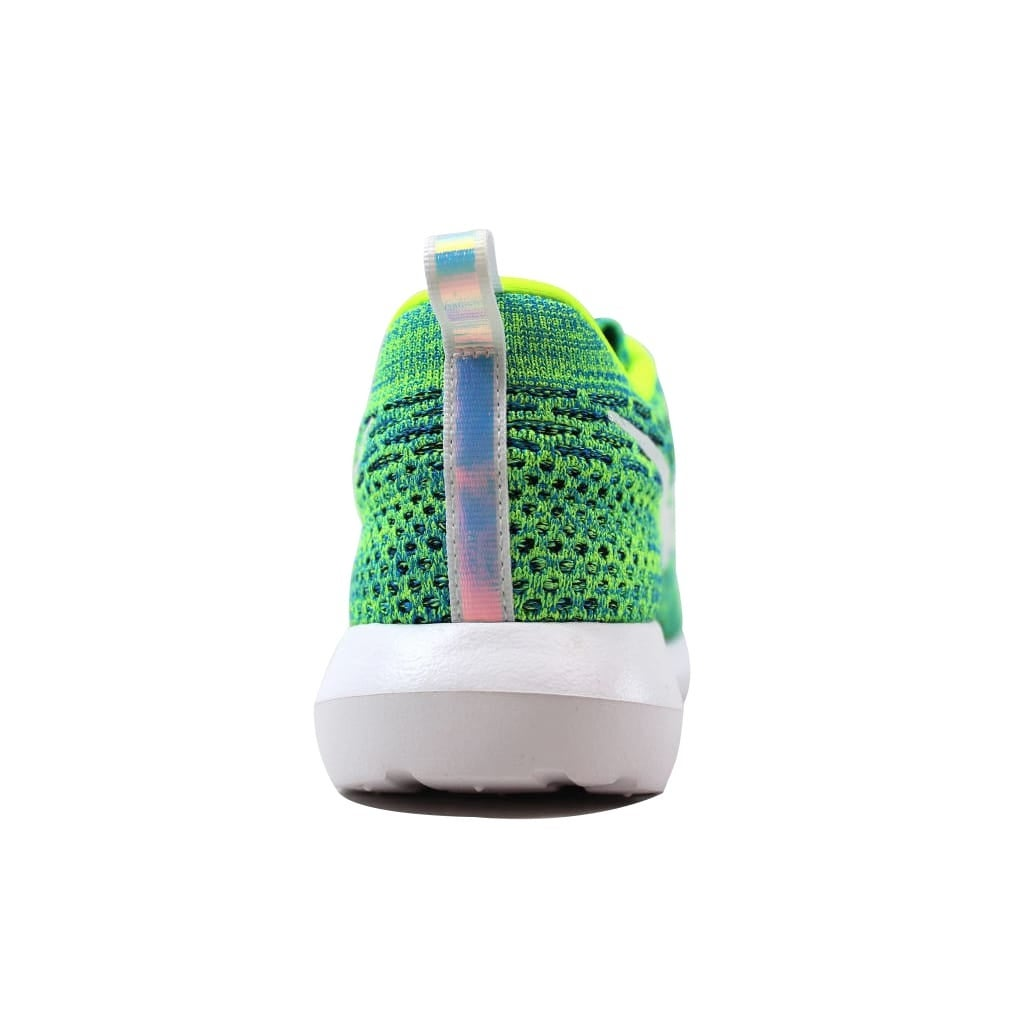 00c3b8de51a2 Shop Nike Roshe NM Flyknit QS Volt Metallic Silver-Voltage Green-Photo Blue  846200-700 Women s - Free Shipping Today - Overstock - 21141313
