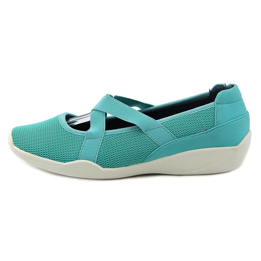 Shop Stretchies Alison Women Round Toe Synthetic Blue Mary Janes ...