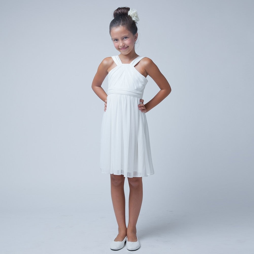 Sweet Kids Girls Off White Crossover Special Occasion Easter Dress 7 ...