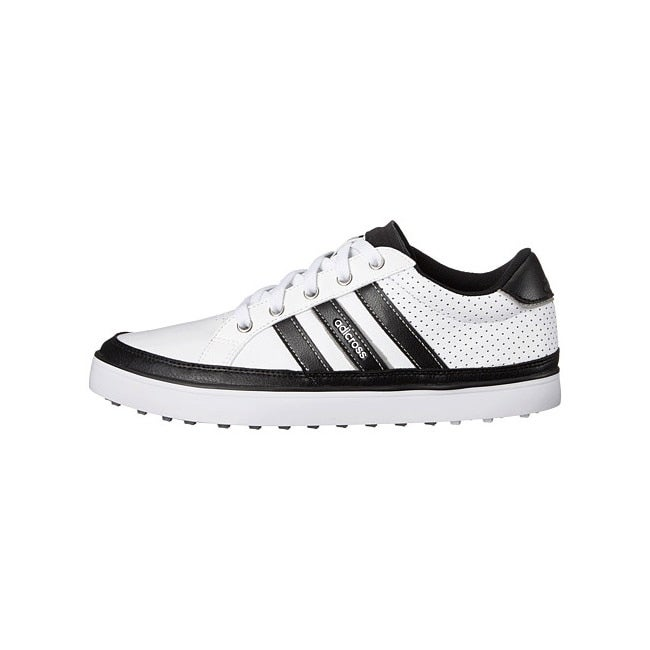 Adidas Men's Adicross IV White/Black/Silver Metallic Golf Shoes Q47044 /  Q46712 - Free Shipping Today - Overstock.com - 24369204