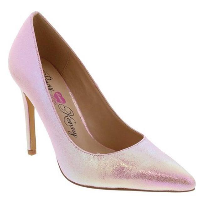 6b8ceaf2aabe Penny Loves Kenny Women s Ormond Stiletto Pump Pink Iridescent Polyurethane