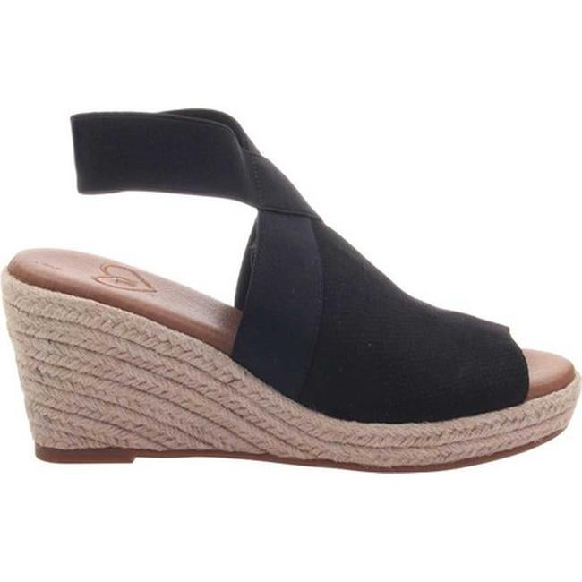 9a4532219c2 Madeline Women's Sunny Day Espadrille Wedge Black Textile