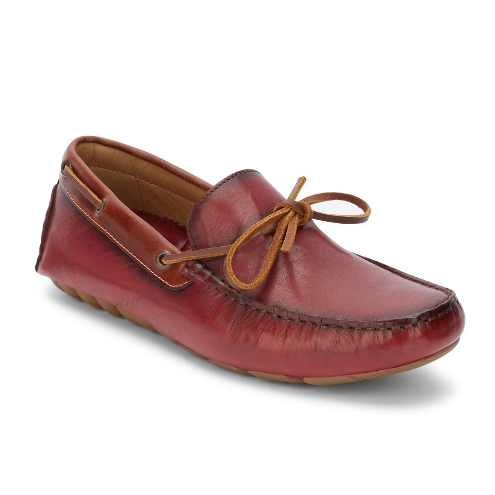 61e283bd9643 Mens Wyatt Leather Casual Driver Loafer Shoe - On Sale - Free Shipping  Today - Overstock - 22538629