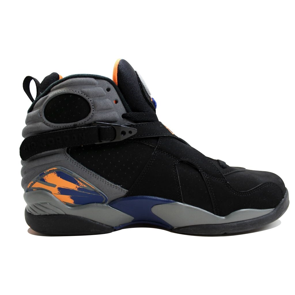 competitive price 6ad71 8fccb Shop Nike Men s Air Jordan VIII 8 Retro Black Bright Citrus-Cool Grey-Deep  Royal Blue Phoenix Suns 305381-043 - Free Shipping Today - Overstock -  19507294