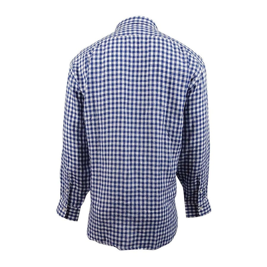 Men's Tall Polo Bigamp; Estate 3xb Linen Lauren Ralph Shirt3xbBluewhiteBluewhite Rq4L3Ac5Sj