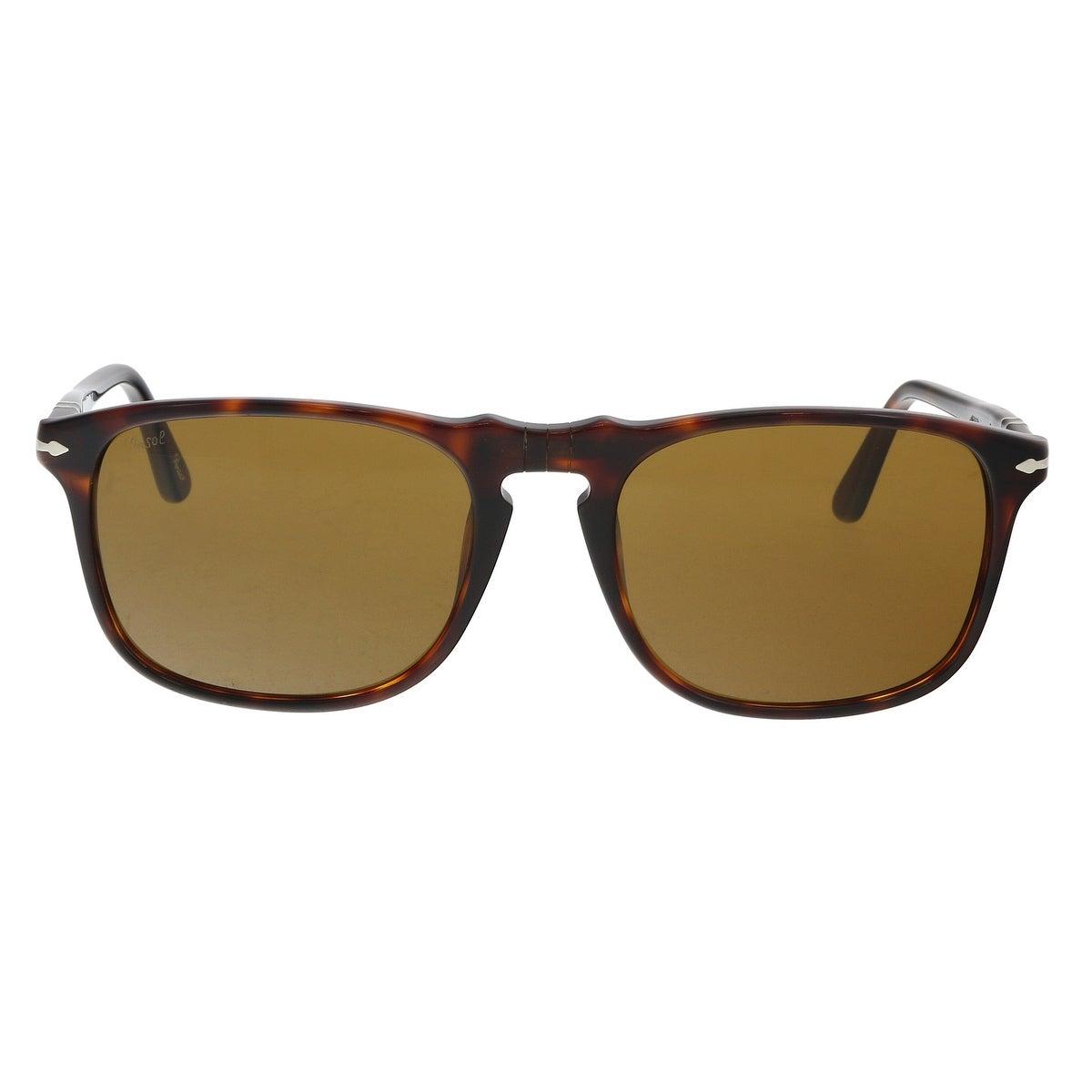 61f69c8d0c Shop PERSOL PO3059S 24 33 Havana Rectangle Sunglasses - 54-18-145 - Ships  To Canada - - 21158180