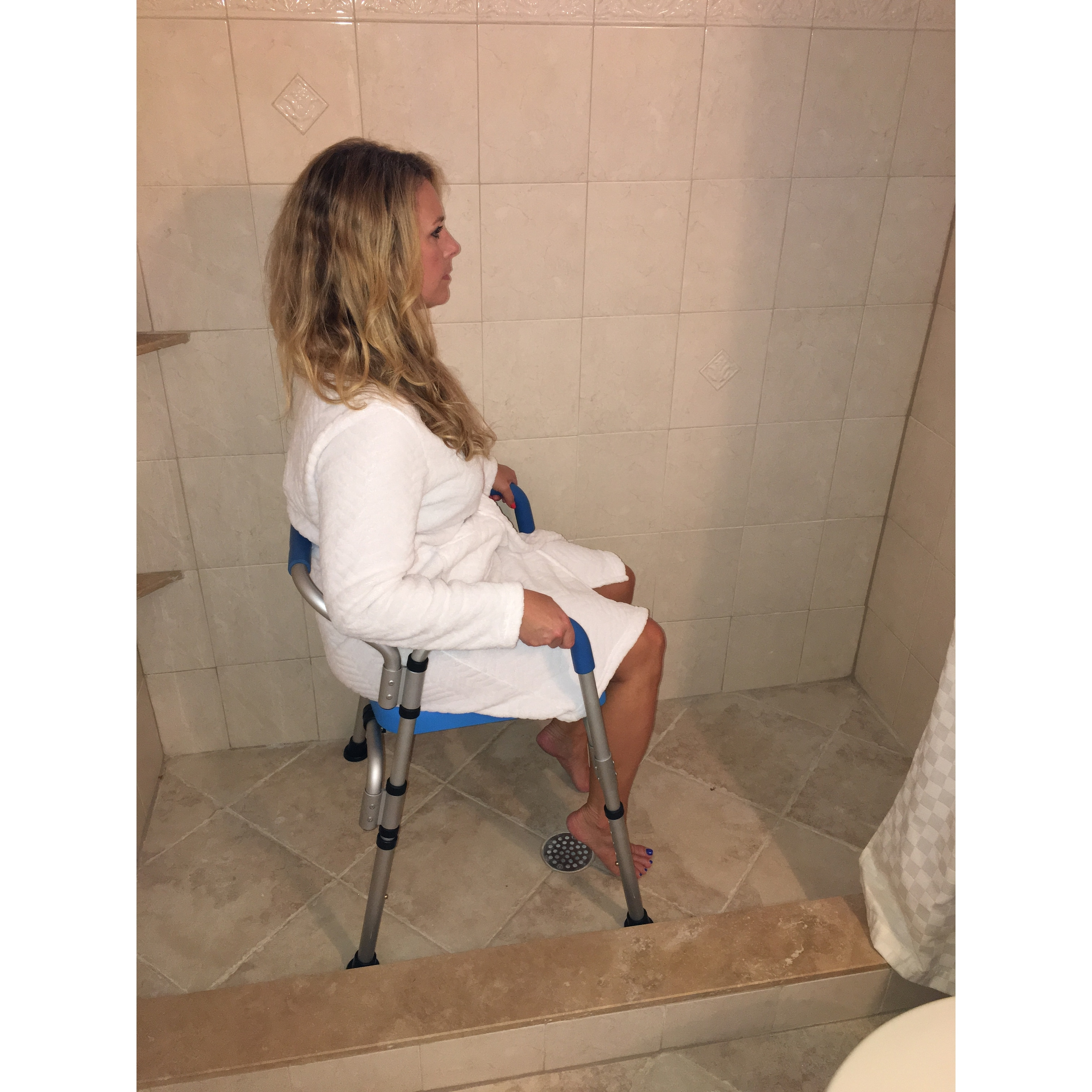 Versatile 3-in-1 Padded Toilet / Bath Shower Chair Commercial ...