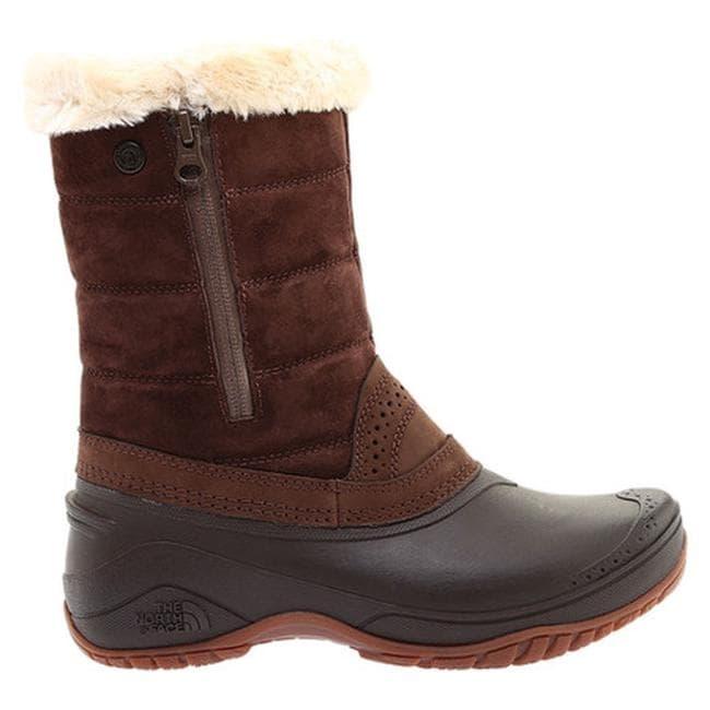 2312304878b The North Face Women's Shellista III Pull-On Boot Coffee Bean Brown/Cargo  Khaki
