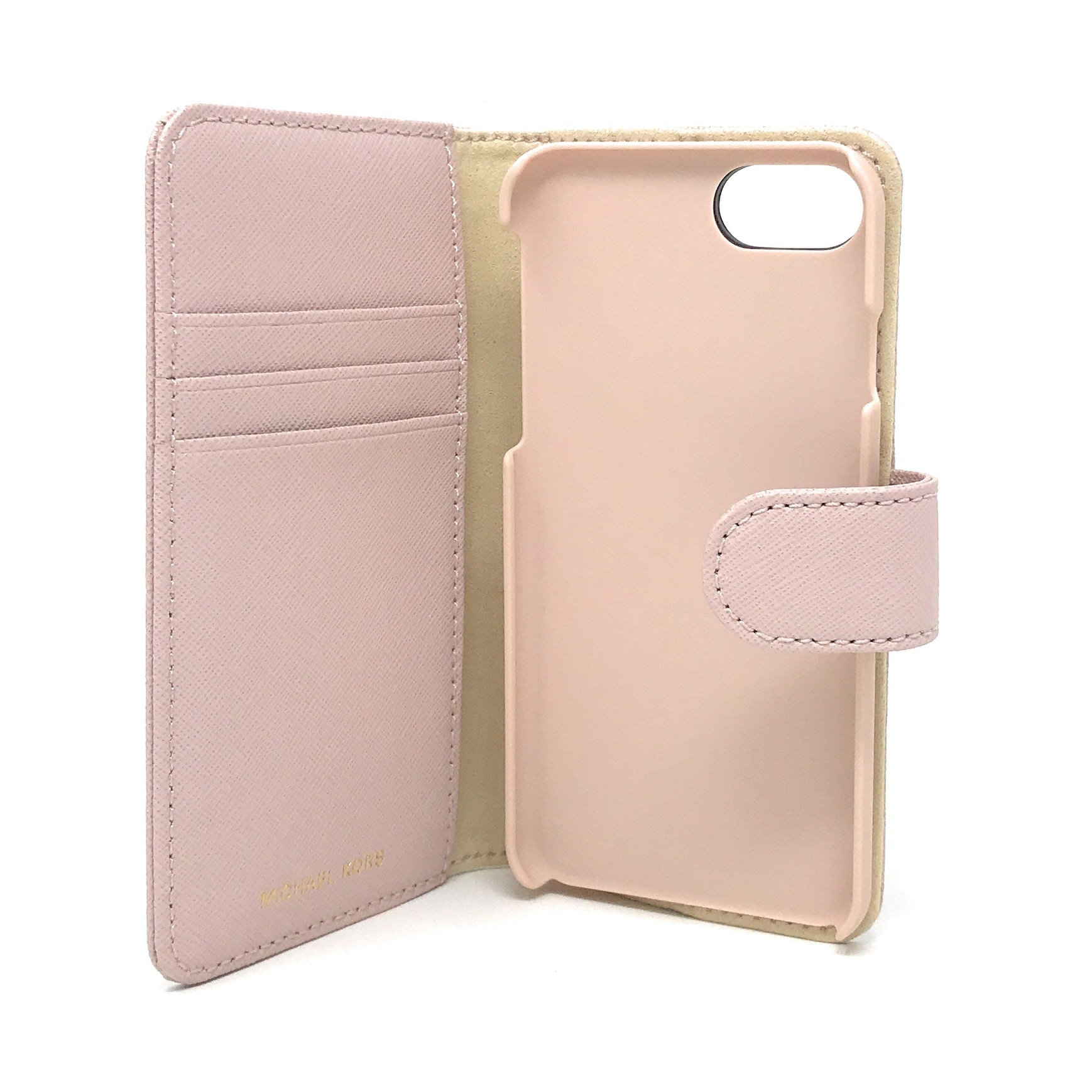 98eebc630a69 Shop Michael Kors Electronic Leather Folio Phone Case for iPhone 8   iPhone  7 - Free Shipping Today - Overstock - 23620825