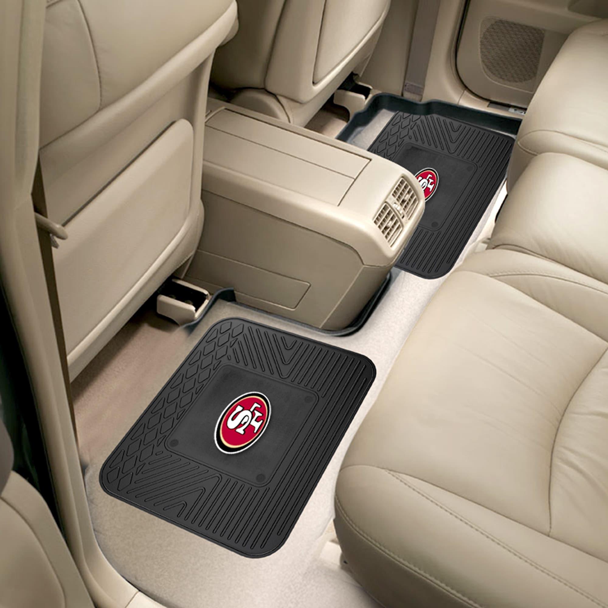 NFL San Francisco 49ers Heavy Duty Rear Car Floor Mats 2 Piece Set