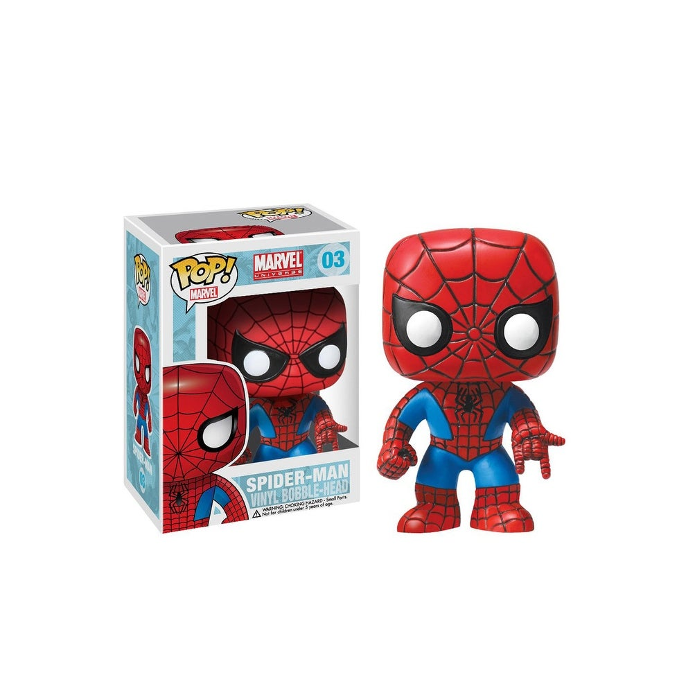 Shop Funko POP Spiderman Vinyl Bobble-Head Figure - Multi - Free ...