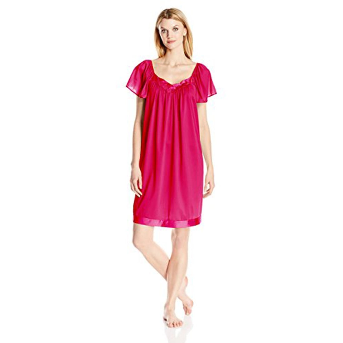 Shop Vanity Fair Women s Coloratura Sleepwear Short Flutter Sleeve Gown  30109 - Free Shipping On Orders Over  45 - Overstock.com - 19813217 e6a2d0219