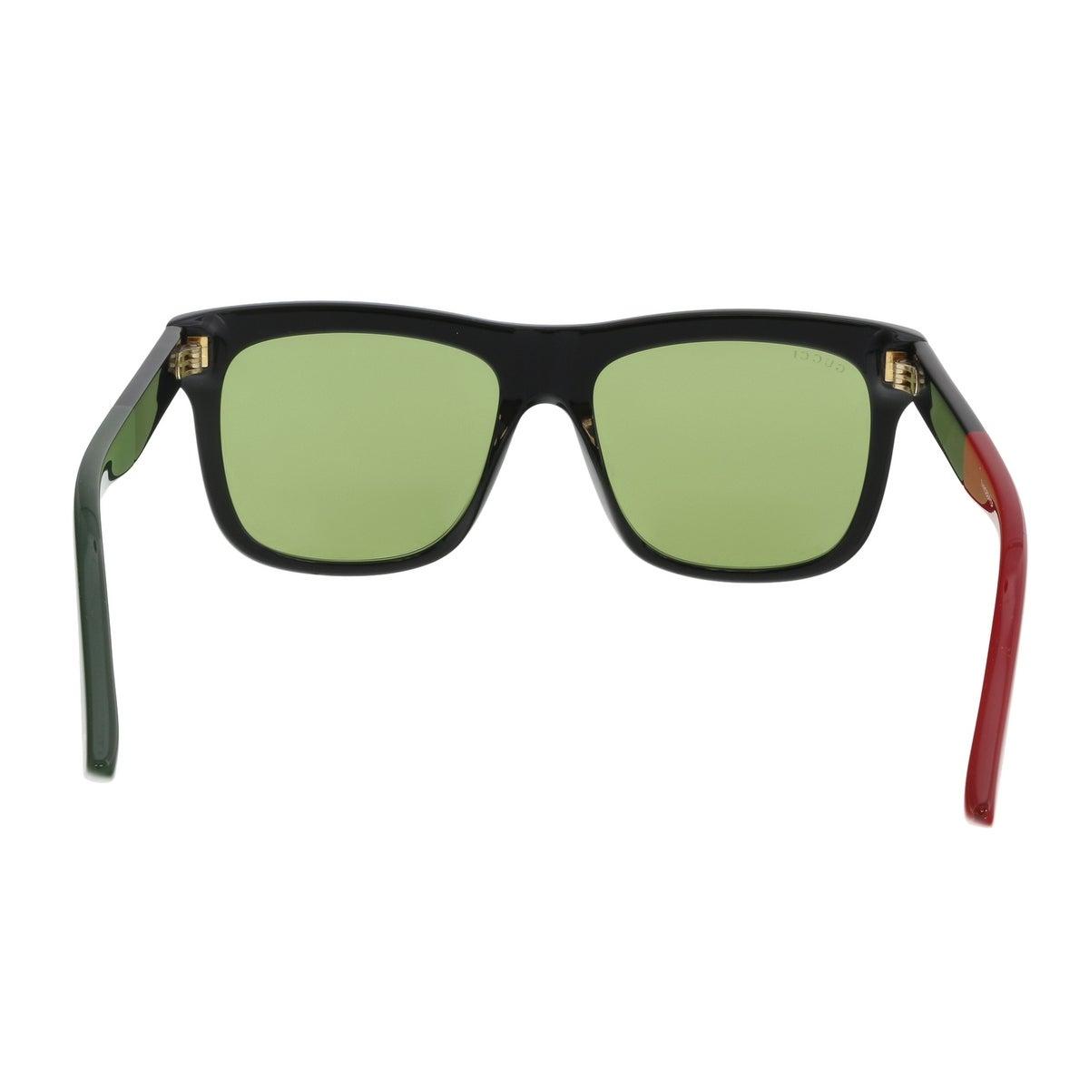 d8047e998c6 Shop Gucci GG0158S-004 Black Green Square Sunglasses - 54-17-145 - Free  Shipping Today - Overstock - 19490344