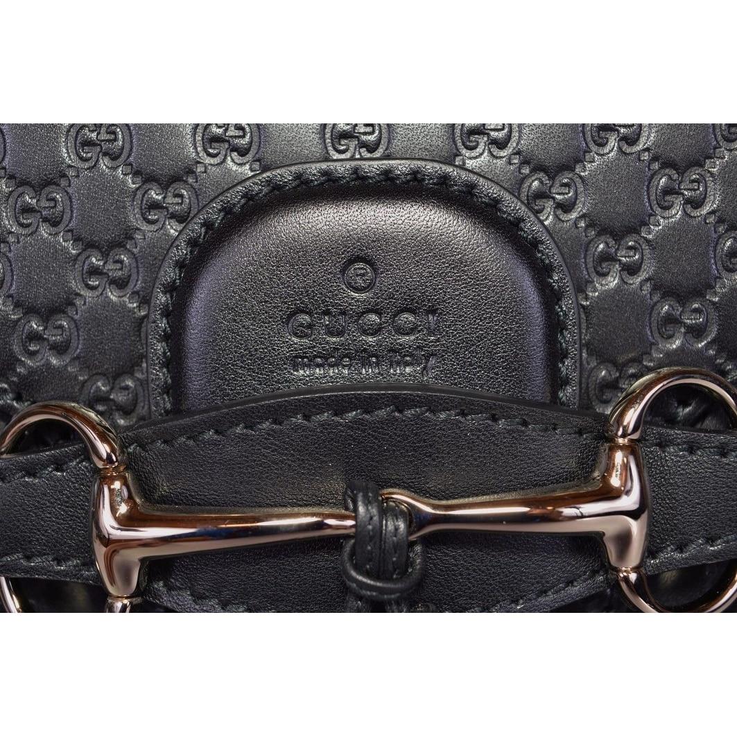 7724cda9545d Shop Gucci Women's 449635 Black Micro GG Guccissima Leather Emily Purse  Handbag - 11.8