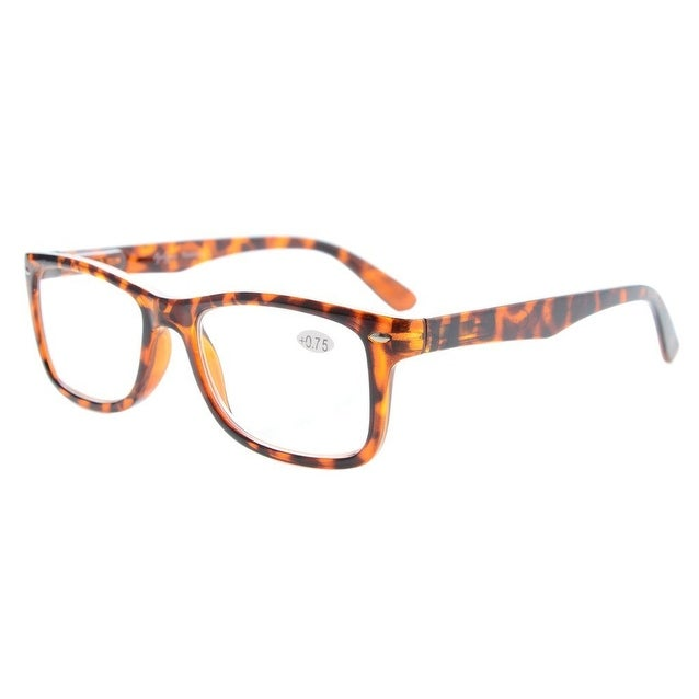5a60a642dbb7 Eyekepper Readers Spring-Hinges Classic Vintage Style Reading Glasses  Tortoise +1.25