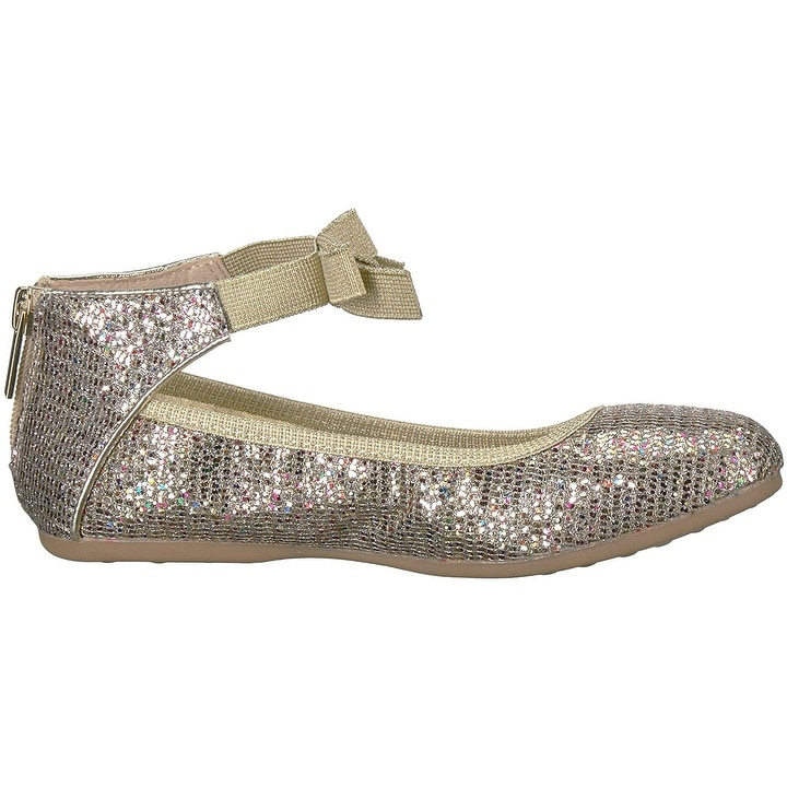 66a62d8cd63 Shop Kenneth Cole REACTION Kids  Rose Bow Ballet Flat - Free Shipping On Orders  Over  45 - Overstock - 22108869