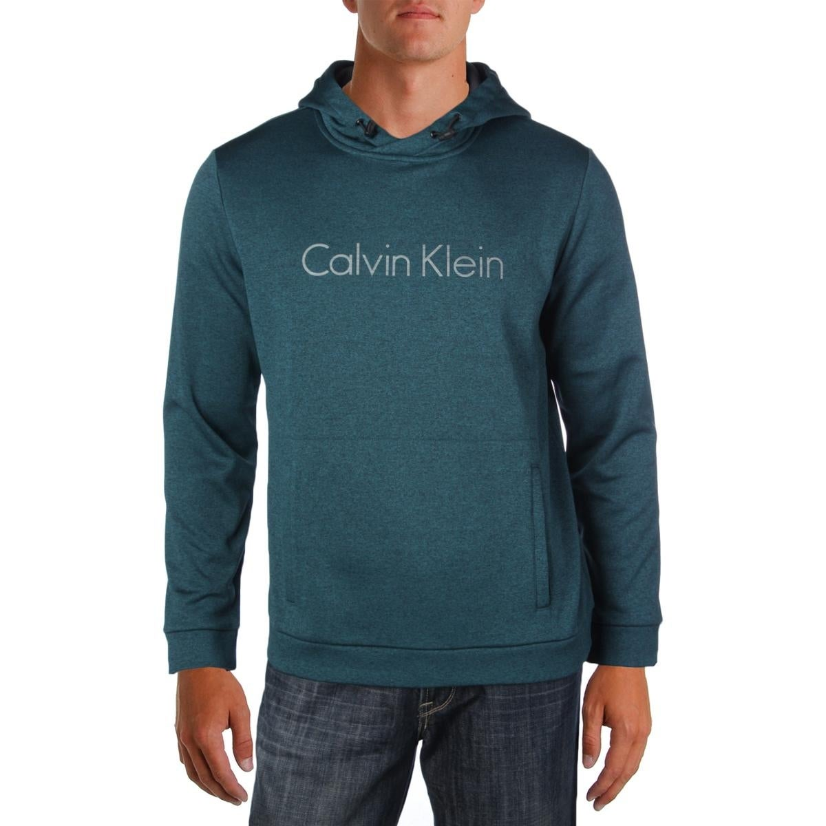 Shop Calvin Klein Mens Hoodie Solid Graphic-Print - Free Shipping On ...