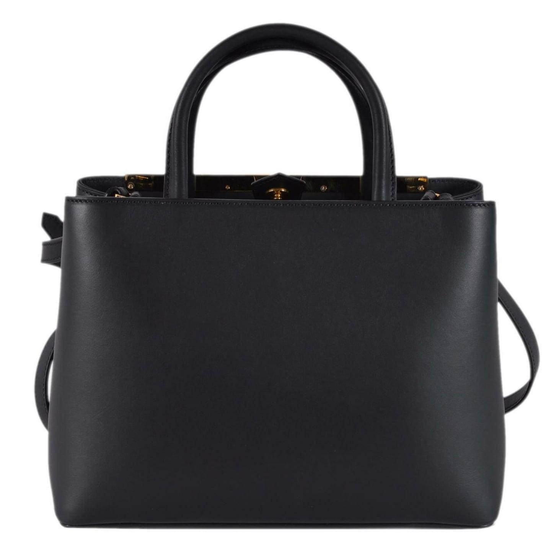 3e559ea1f7601f Shop Fendi 8BH253 Black Leather BUG Eyes 2 Jours Crossbody Purse Handbag - Free  Shipping Today - Overstock - 26951753