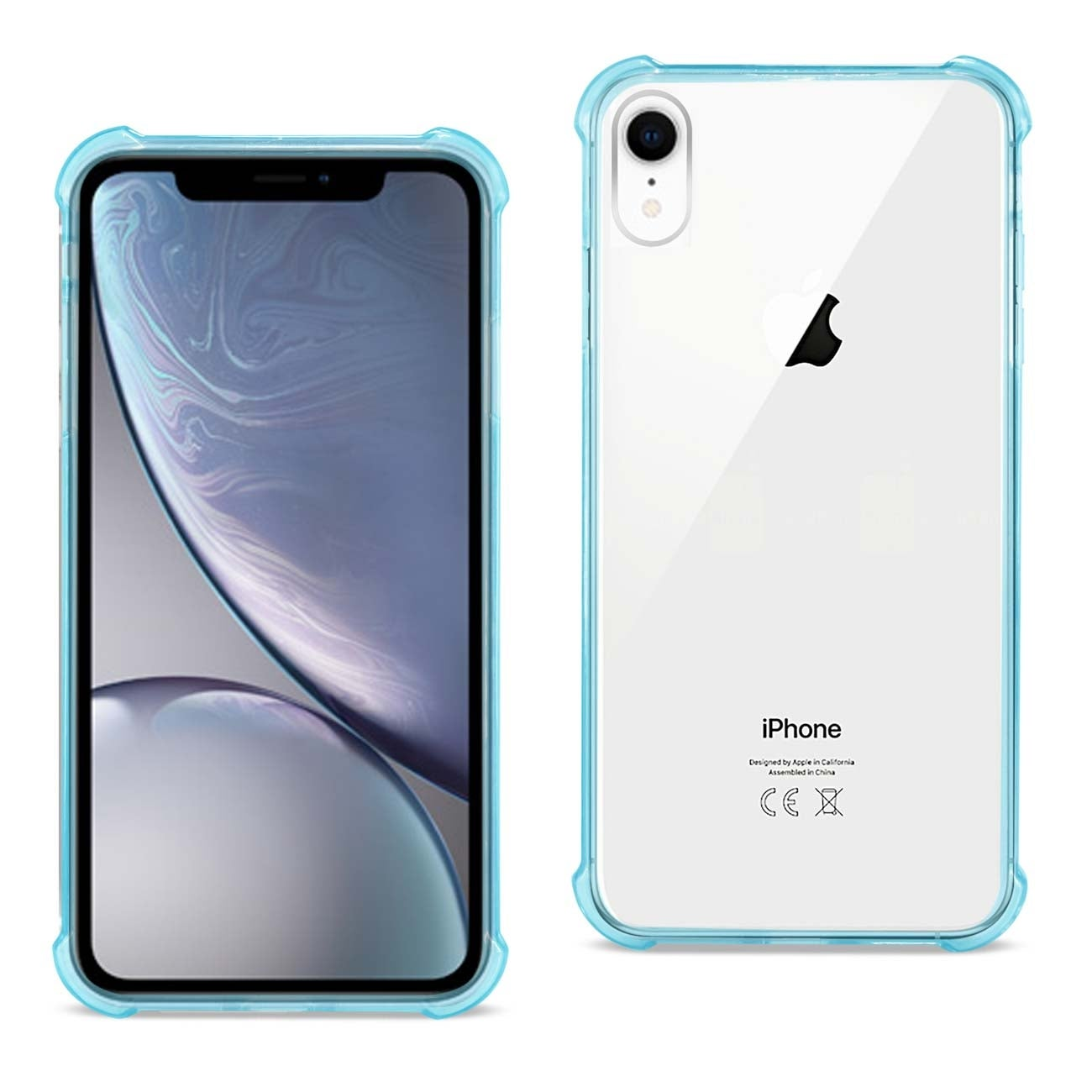 new concept f41ac a6831 iPhone XR Clear Bumper Case With Air Cushion Protection