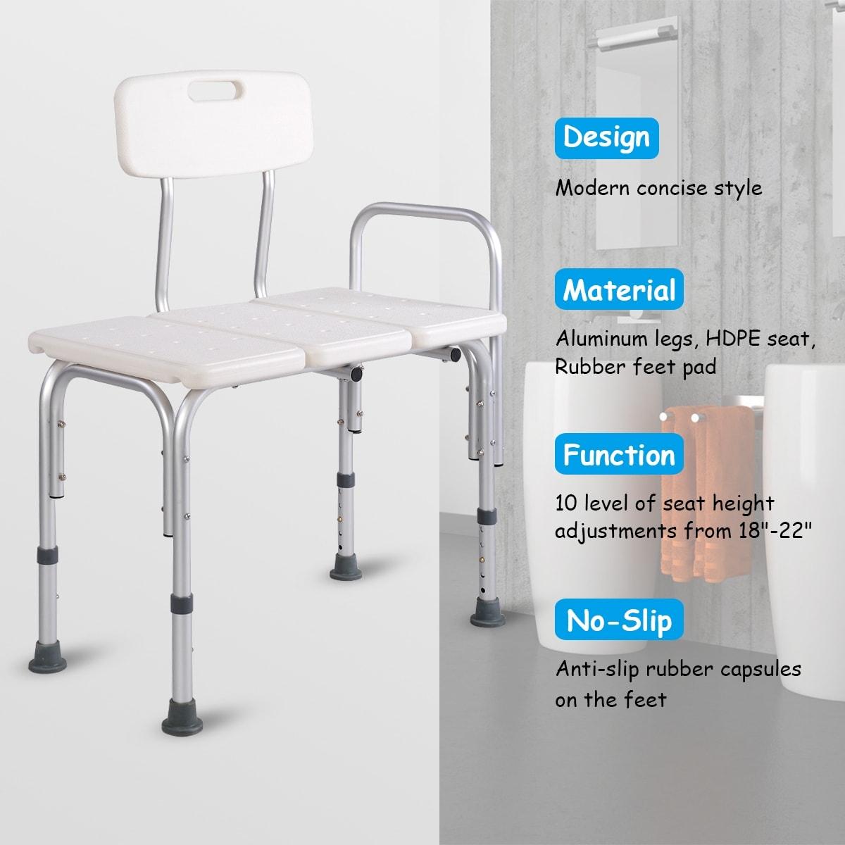 Shop Costway Shower Bath Seat Medical Adjustable Bathroom Bath Tub ...