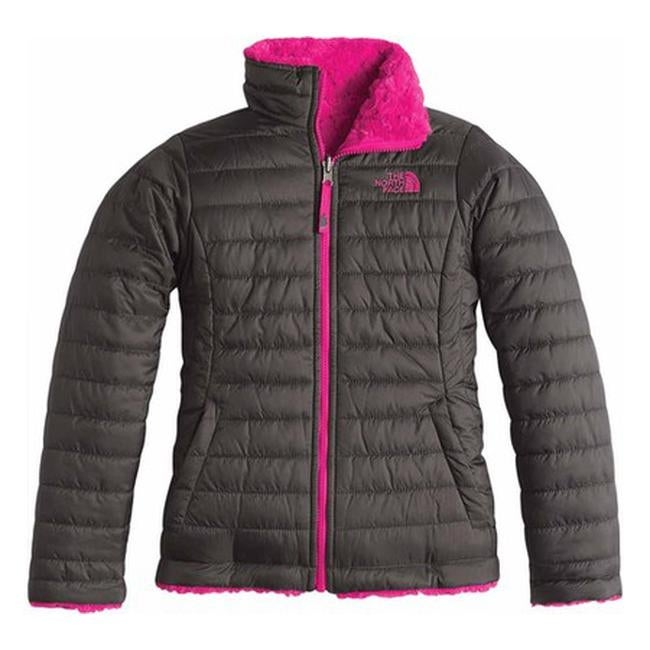 Shop The North Face Girls  Reversible Mossbud Swirl Jacket Graphite  Grey Cabaret Pink - Free Shipping Today - Overstock - 21598741 7beb4b40d