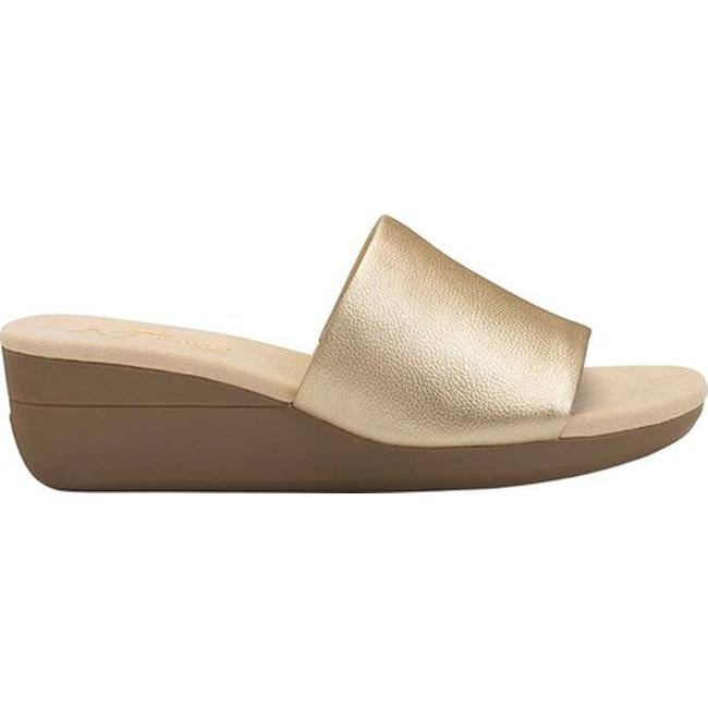 553b2f2308 Shop A2 by Aerosoles Women's Sunflower Slide Sandal Gold Faux Leather -  Free Shipping On Orders Over $45 - Overstock - 20340686