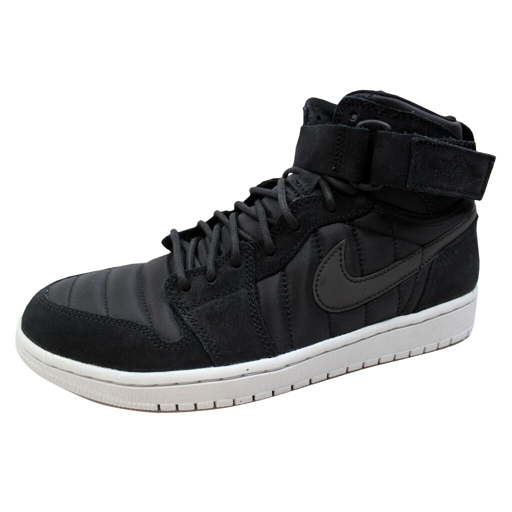 80ccdeb41fb Shop Nike Men s Air Jordan 1 High Strap Black Black-Pure Platinum 342132-004  - Free Shipping Today - Overstock - 20129126