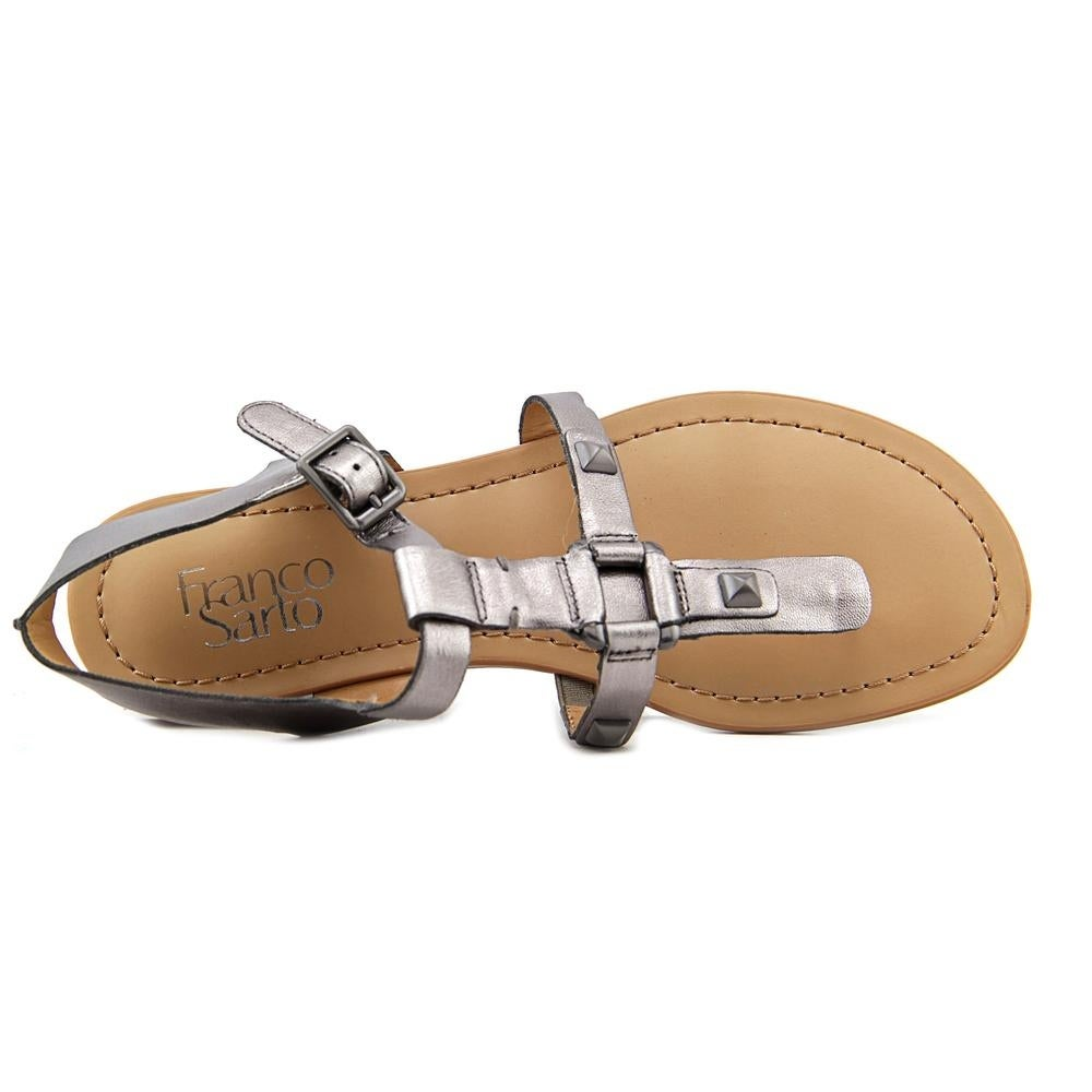 1eb7bca7029d Shop Franco Sarto Geyser Women Open Toe Synthetic Silver Thong Sandal -  Free Shipping On Orders Over  45 - Overstock - 16401692