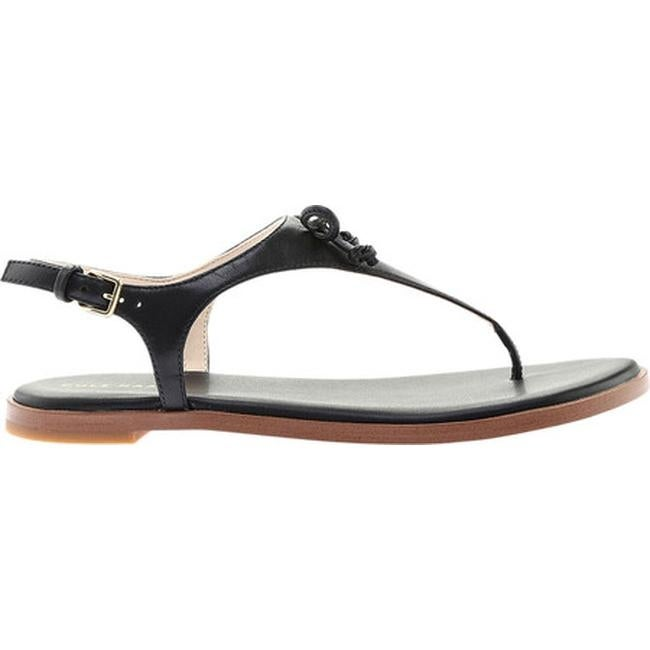 100% satisfaction largest selection of 2019 brand quality Cole Haan Women's Findra Thong Sandal Black Leather