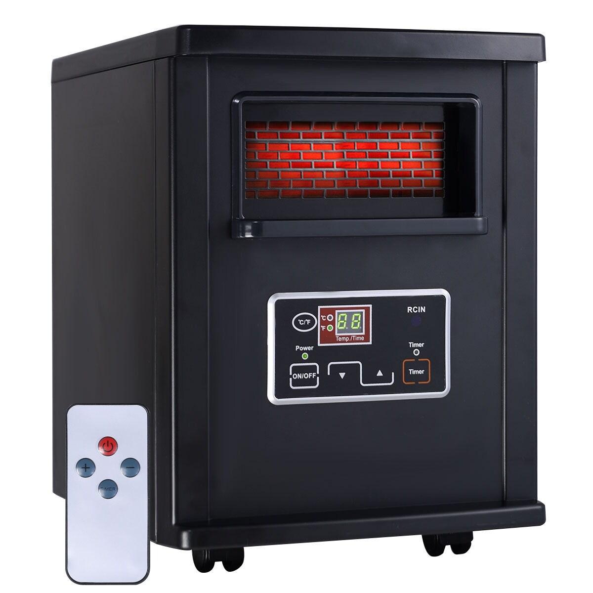 Shop Goplus 1500W Electric Portable Infrared Quartz Space Heater ...
