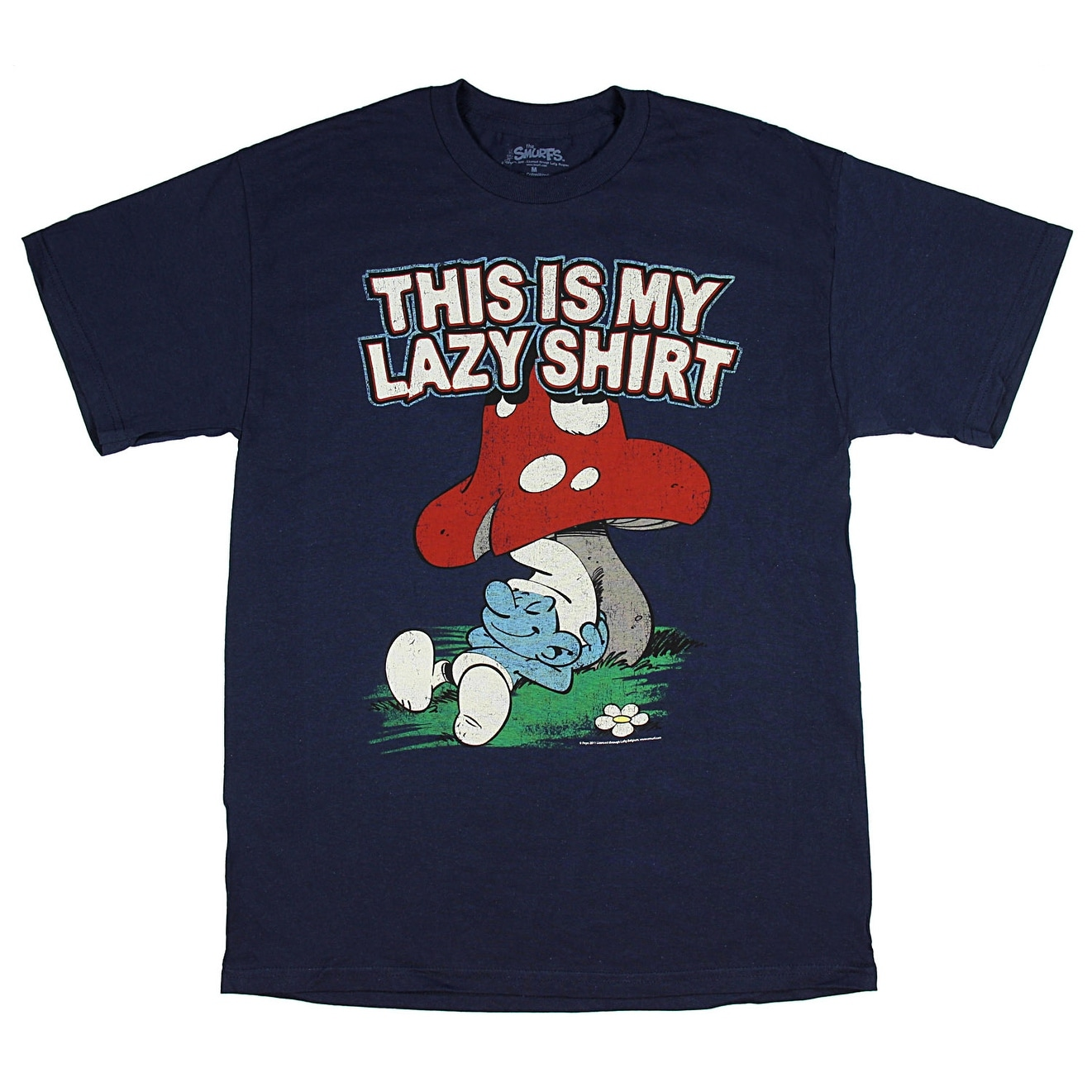 433afcdc4 Shop The Smurfs This is My Lazy Shirt Men's T-Shirt - On Sale - Free  Shipping On Orders Over $45 - Overstock - 21504875
